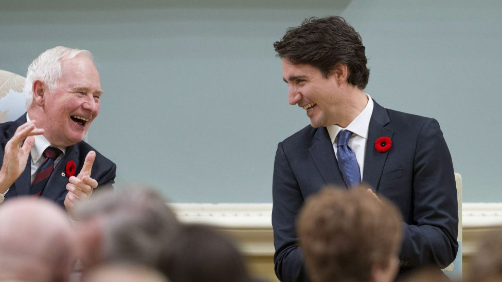 Trudeau Laughing